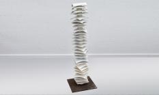 Stele, Porzellan, 115x36x36 cm