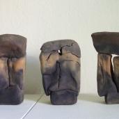 """""""3 Köpfe"""", Steinzeug, Kapselbrand 20x9x10/19x11x7/20x10x6 cm"""