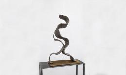 """miteinander"", Blackstone, Metall, 78x35x17 cm"